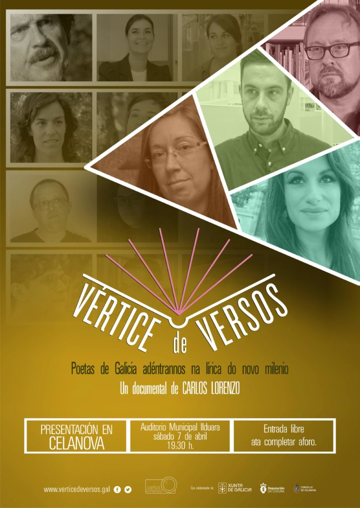 Vértice de versos no AMIC o sábado 7 de abril ás 19.30