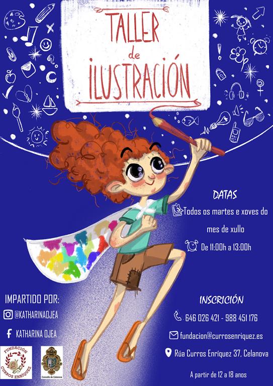 Taller de ilustración durante o mes de xullo