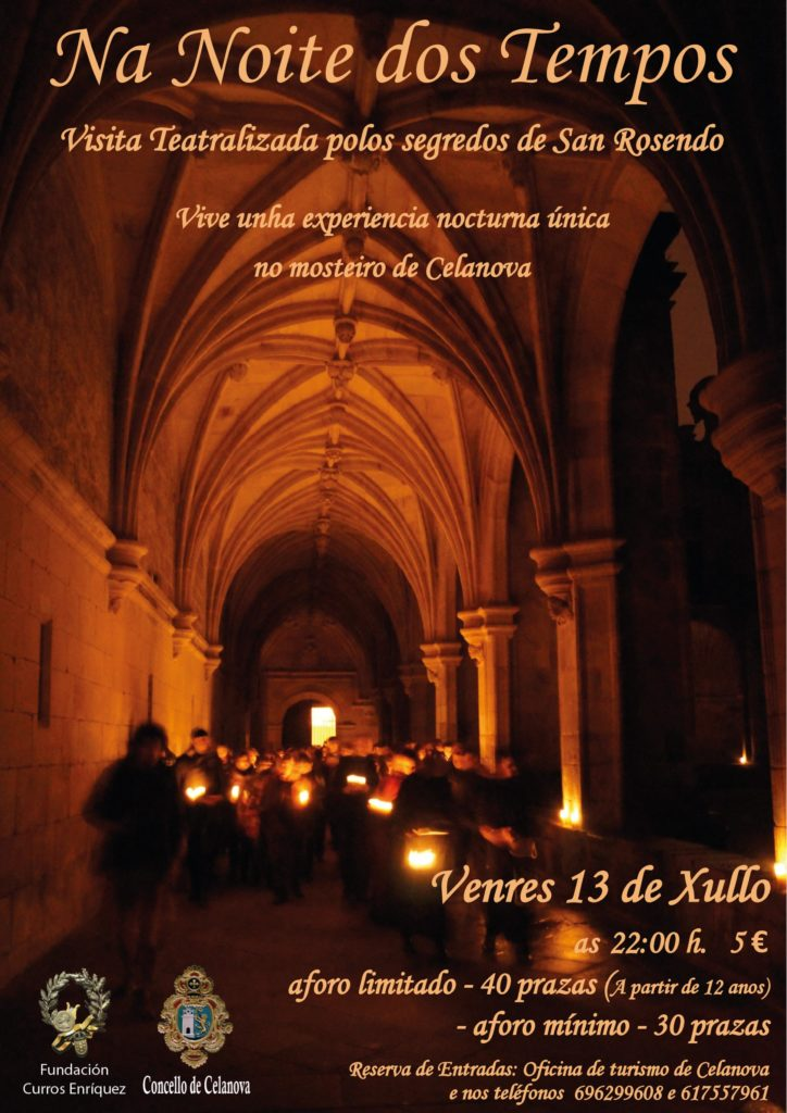 Visita teatralizada nocturna polo mosteiro 13 xullo