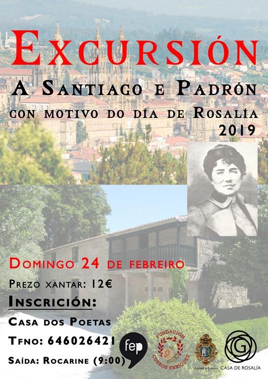 Excursión a Santiago e Padrón co motivo do día de Rosalía