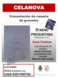 Presentación dunha carpeta de gravados de Xosé Poldras