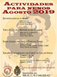 Actividades para nenos en Agosto