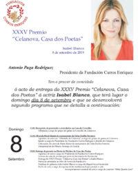 Entrega do Premio Celanova, Casa dos Poetas