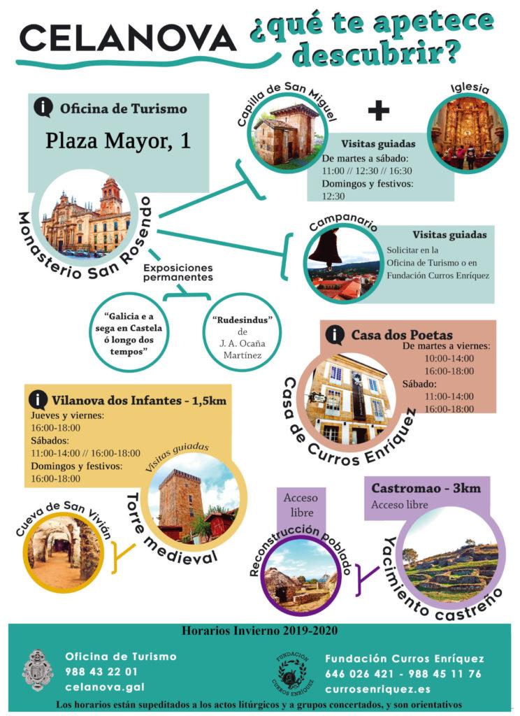 Horarios Turismo Celanova 2019-2020.