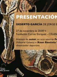 Presentación do libro «Deserto García» de Jorge Emilio Bóveda