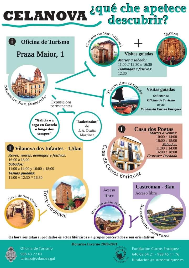 Horarios Turismo Celanova 2020-2021.