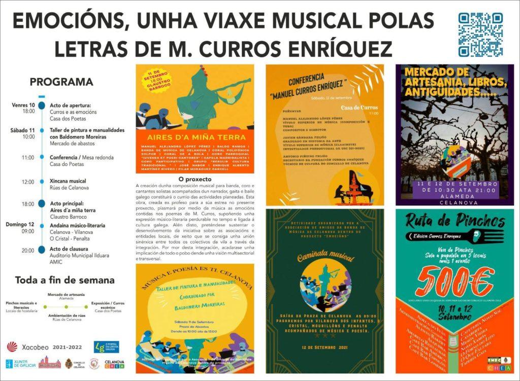 Emocións, unha viaxe musical polas letras de M. Curros Enríquez